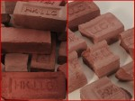(Approximate weight .3 Lbs / 136 g) Water Struck Bricks are unpainted in photographs. There is slight color variation.